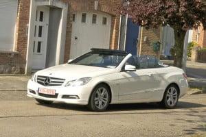 Mercedes E klasse Cabrio wit 2