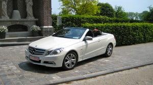 Mercedes E klasse Cabrio wit